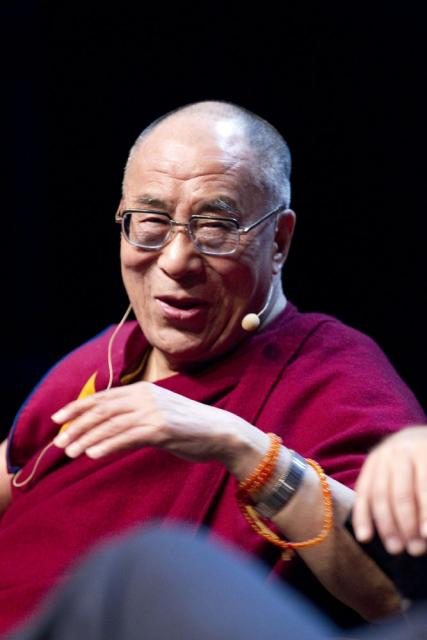 H.H. the Dalai Lama speaking at Happiness and Its Causes.