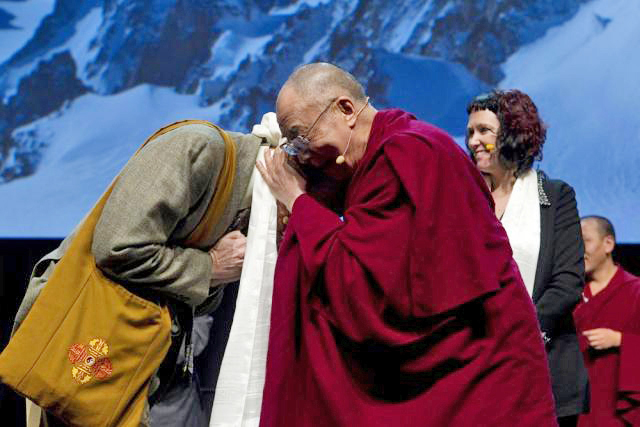 HHDL silk scarf Wallace